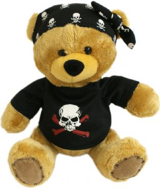Pirate Teddy Bear (With Bandana)